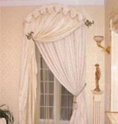 Ассиметричные арочные шторы с нахлестом