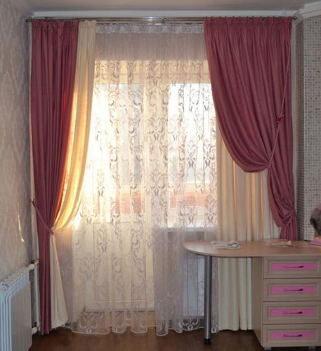 шторы трехрядные фото