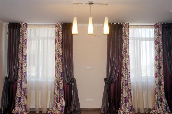 Шторы люверсы для гостиной дизайн