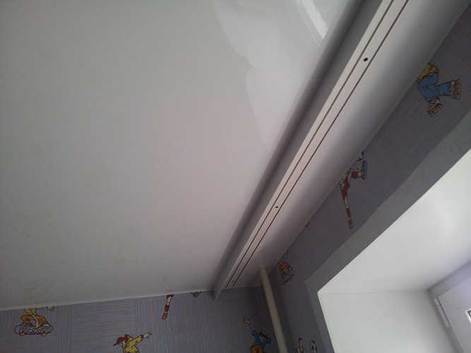 Как сделать потолочную гардину если потолок натяжной 699