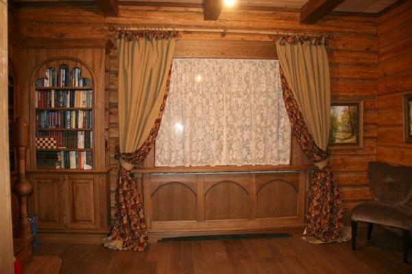 Дизайн штор для деревянного дома фото