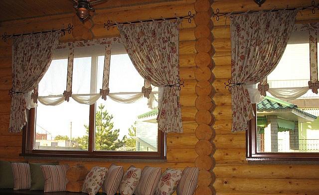Дизайн штор для деревенского дома