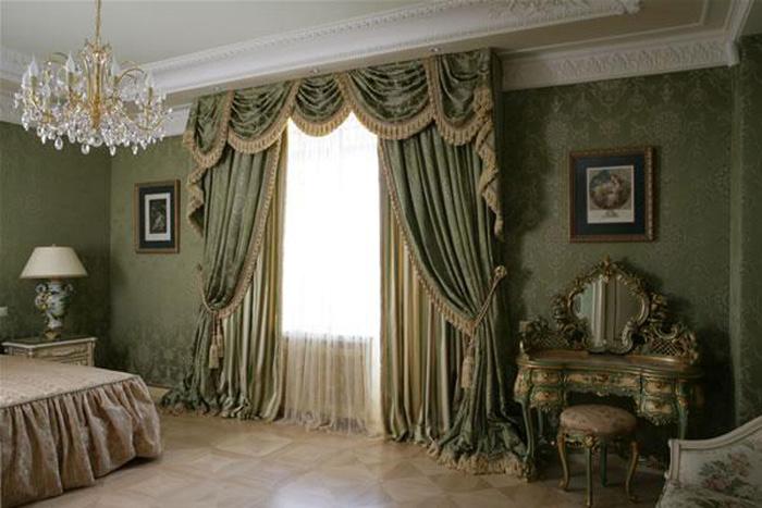 Шторы в стиле барокко фото