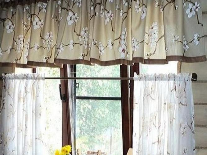шторы в кафе в деревенском стиле фото