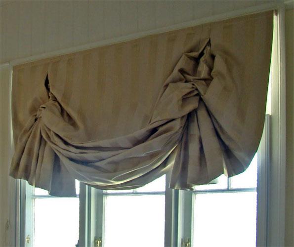 Лондоские шторы со складками фото