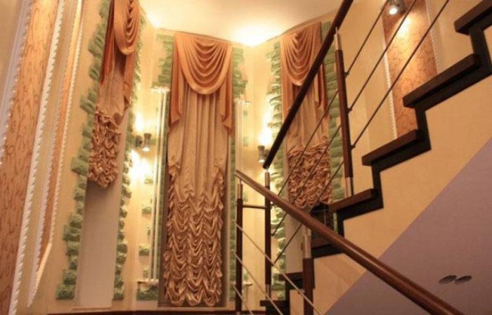 Дизайн тюли на высокие окна