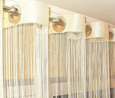 Купить нитяные шторы и светонепроницаемую ткань для штор