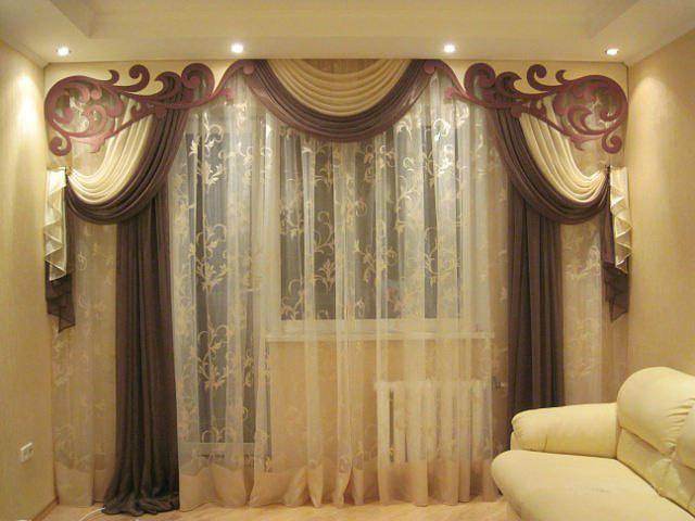 Ламбрекены для гостиной дизайн