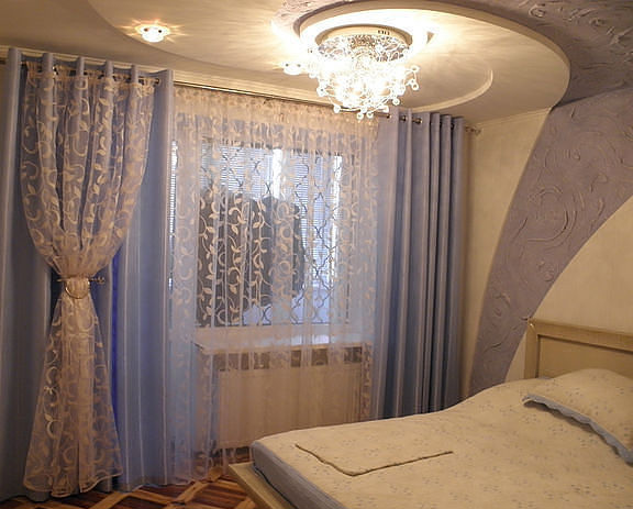 Дизайн штор для спальни (часть II - природные стили)