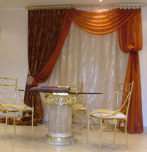 Дизайн штор для гостиной в стиле