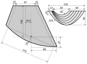 Чертеж выкройки асимметричного перекида