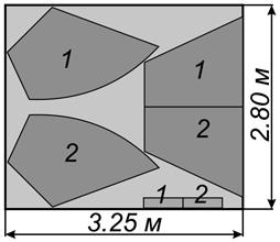 Схема расхода светлой портьерной ткани