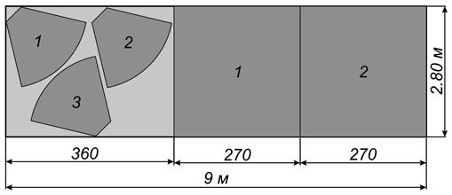 Схема расхода темной портьерной ткани