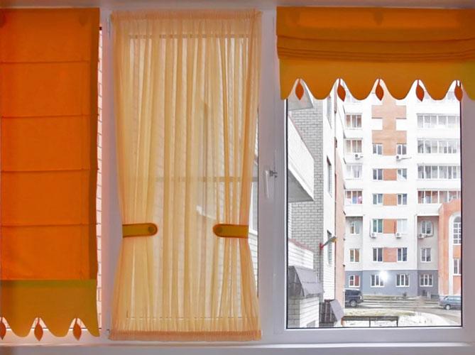 Купить римские шторы на пластиковые окна, фото и цена.