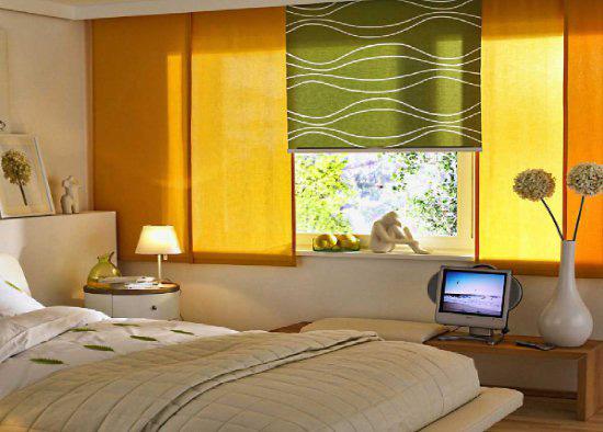 японские штор спальни фото
