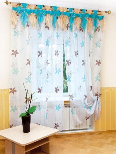 шторы на кухню на петлях фото