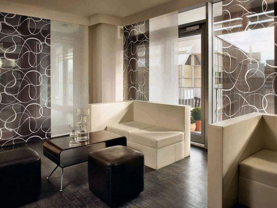 Дизайн японских штор для гостиной